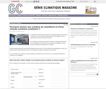 Dossier d'expert - Génie climatique magzine - Cop