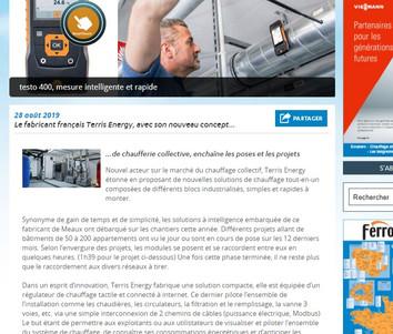 Terris Energy dans Filière Pro Magazine