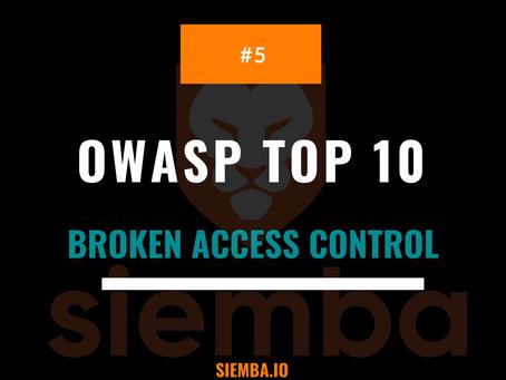 OWASP Top 10 : Broken Access Control