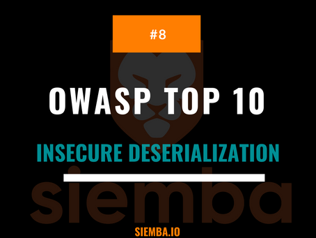 OWASP Top 10 : Insecure Deserialization