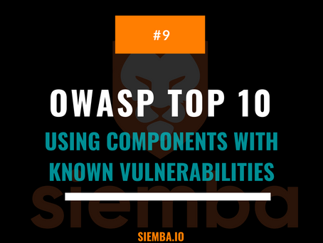 OWASP Top 10 : Using Components with Known Vulnerabilities