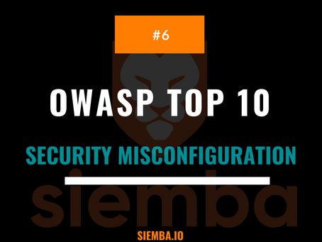 OWASP Top 10 : Security Misconfiguration