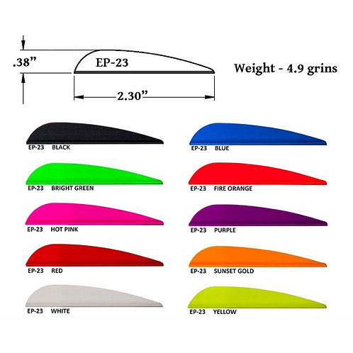 AAE Arizona Archery Vanes Plastifletch EP-23 (20 pcs per pac