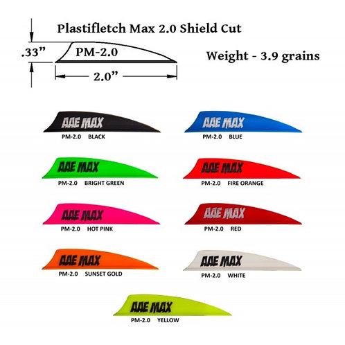 AAE Arizona Archery Vanes Plastifletch Max PM-2.0 Shield (20 pcs per pack)