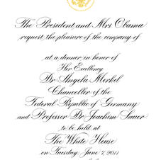 classic copperplate for state dinner