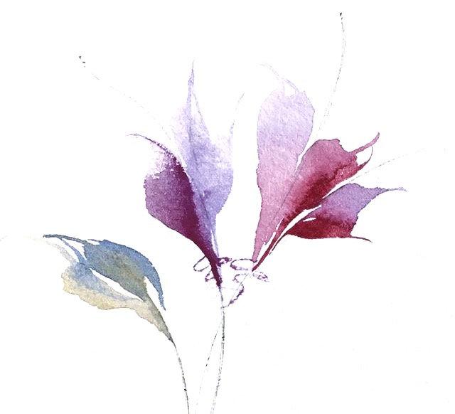 Triangle Brush Tulips and Magnolias