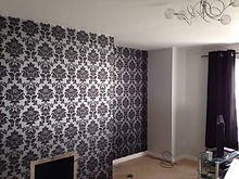 papered wall with new wallpaper.jpg