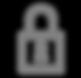 Icono de bloqueo - Gris