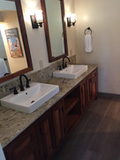 Northstar - finished master bath (featuring beautiful vanity handmade by M Renovations)