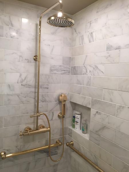 Marble Shower w/DornBracht