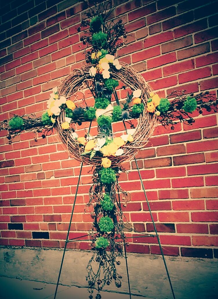 Irish Cross Wreath