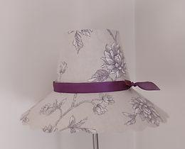 abat-jour forme chapeau toile de Jouy.jp