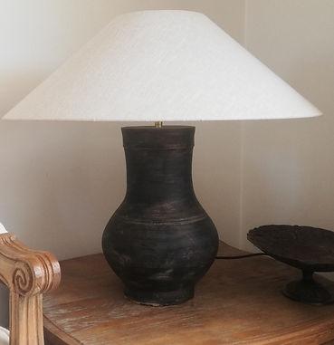 lampe chinoise en terre cuite