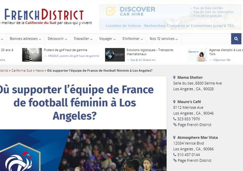 Où supporter l'équipe de France de football féminin à Los Angeles?