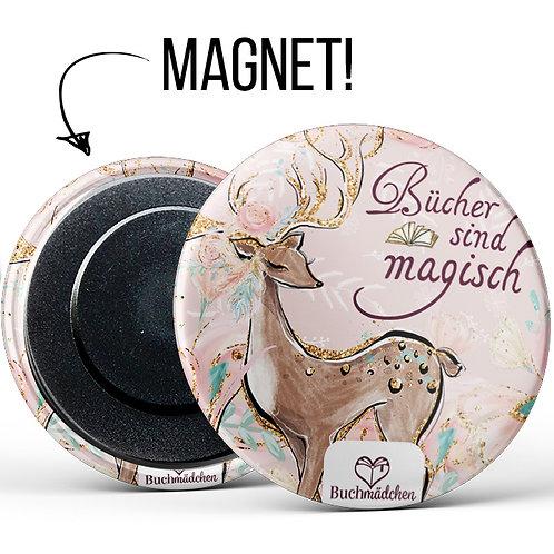 Magnetbutton »Bücher sind magisch«