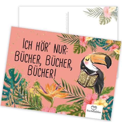 Postkarte  »Ich hör' nur Bücher«