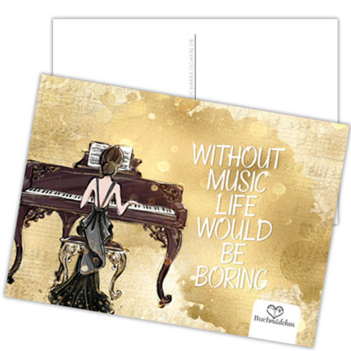 Postkarte »Without Music Life Would Be Boring«