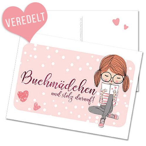 Postkarte »Buchmädchen«