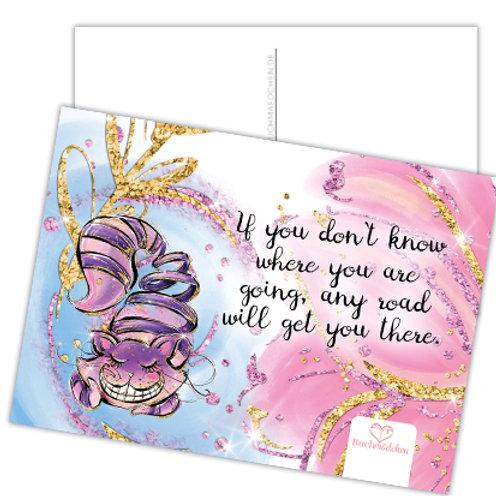 Alice Postkarte »Grinsekatze«