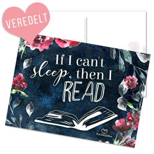 Postkarte »If i can't sleep, then i read«