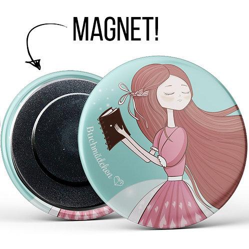 Magnetbutton »Lesemädchen«