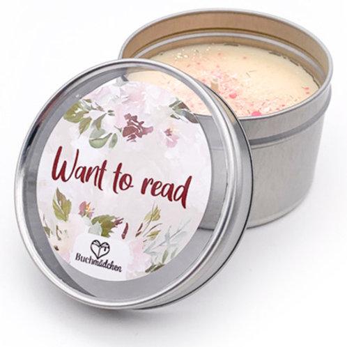 Kerze in Dose »Want to read«