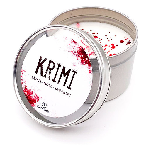 Kerze in Dose »Krimi«