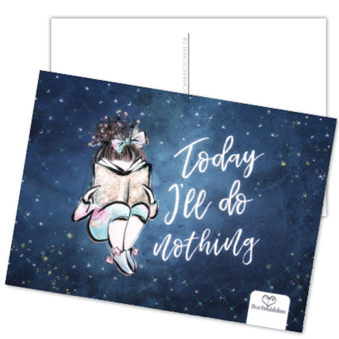 Postkarte »Today I'll Do Nothing«