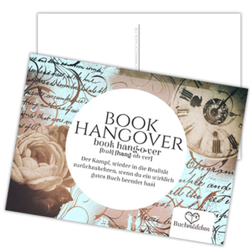 Postkarte »Book-Hangover«