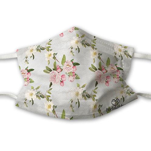 Mundnasenschutz Flowerpower + gratis pinker FFP2 Maske