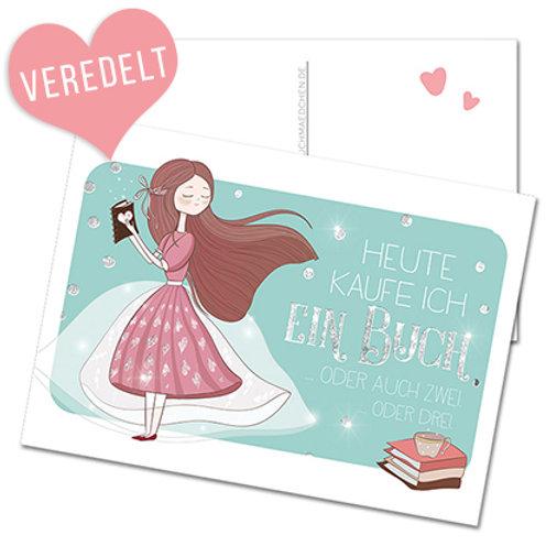 Postkarte »Heute kaufe ich ein Buch«