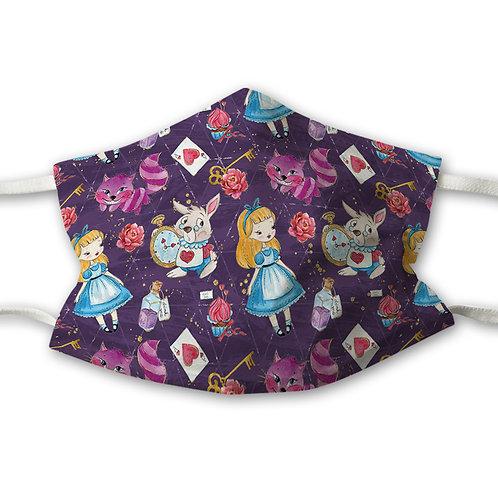 Mundnasenschutz Alice lila + gratis pinker FFP2 Maske