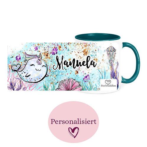[Personalisiert] Tasse »Narwhale«