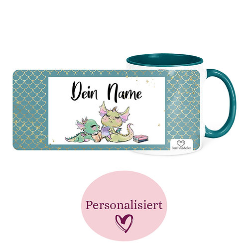 [Personalisiert] Tasse »Lesedrachen«