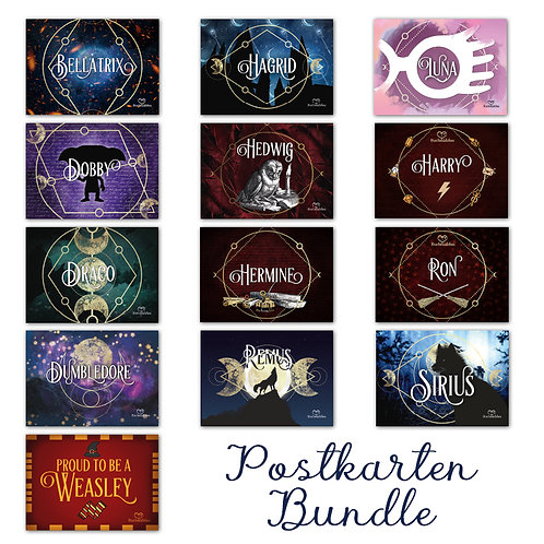 Postkarten Bundle Wizarding World