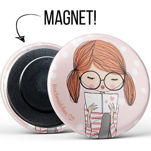 Magnetbutton »Buchmädchen«