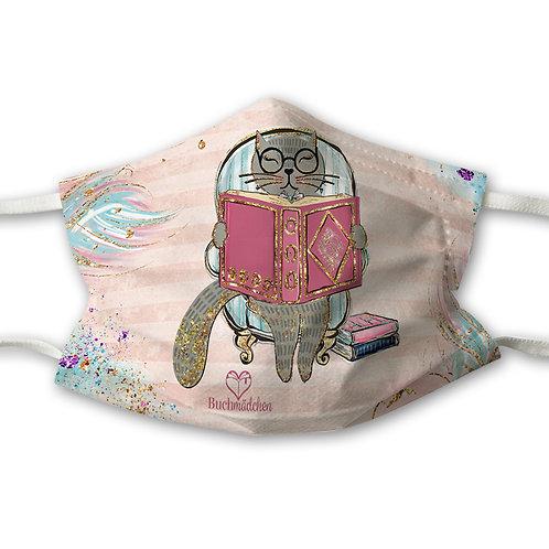 Mundnasenschutz Katze + GRATIS pinker FFP2 Maske