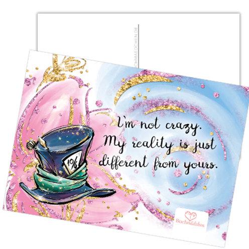 Alice Postkarte »I'm not crazy«