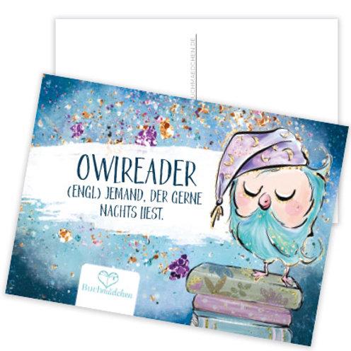 Postkarte »Owlreader«