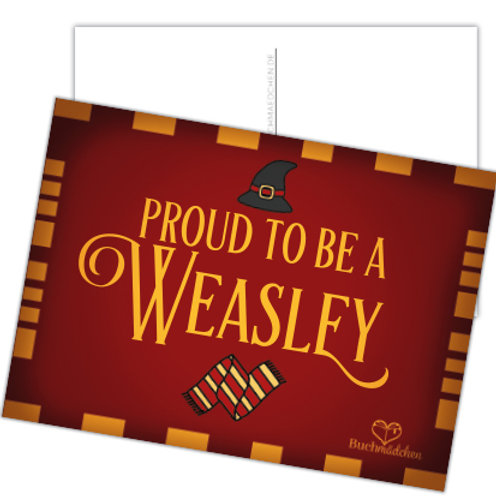 Postkarte »Proud to be a Weasley«