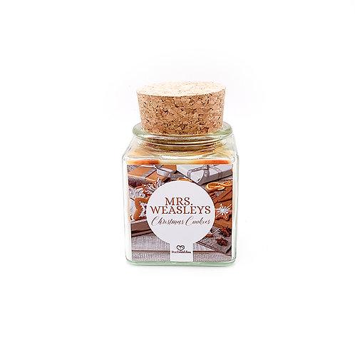 Specialkerze mit Korken »Mrs. Weasleys Christmas Cookies«