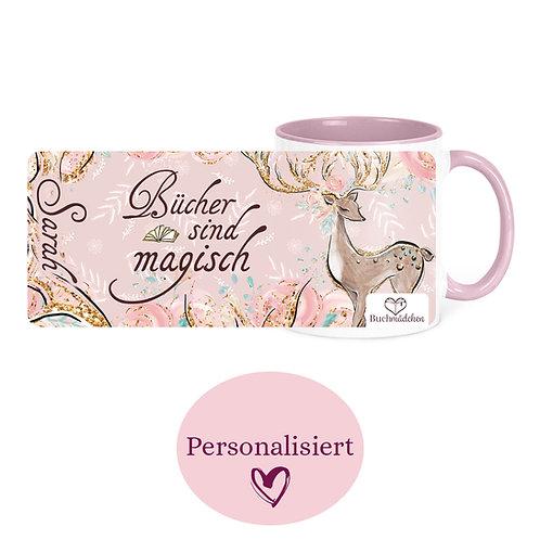 [Personalisiert] Tasse »Bücher sind magisch«
