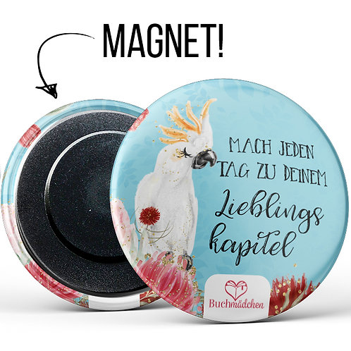 Magnetbutton »Kakadu«