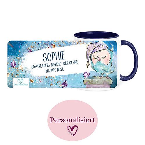 [Personalisiert] Tasse »Owlreader«