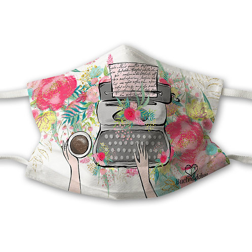 Mundnasenschutz Writer + gratis rosa FFP2 Maske