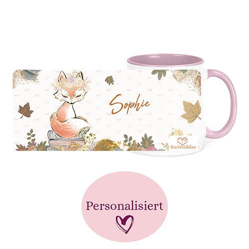 [Personalisiert] Tasse »Schlaue Füchse lesen«
