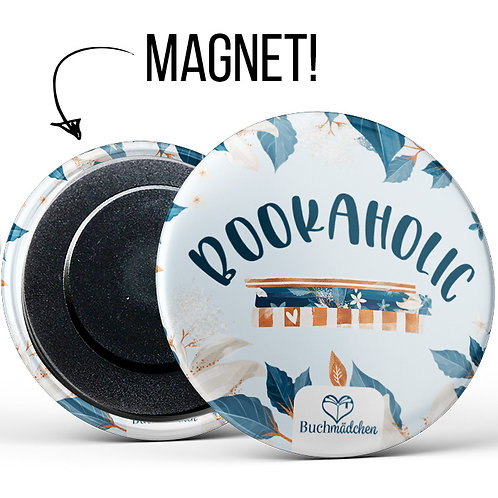 Magnetbutton »Bookaholic«