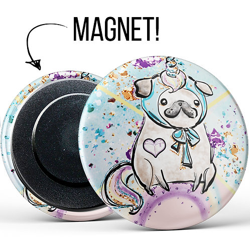Magnetbutton »Mops«