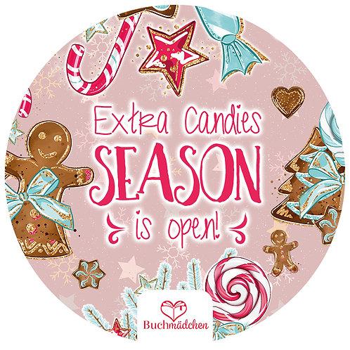 Aufkleber »Extra Candies Season is Open«