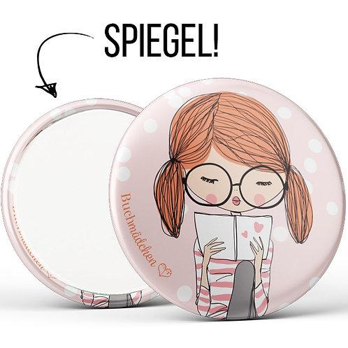 Spiegelbutton »Buchmädchen«